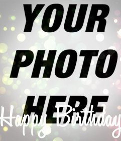 Happy Birthday filter your photo