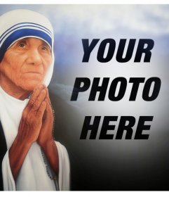 Photo effect of Mother Teresa of Calcutta for your photo