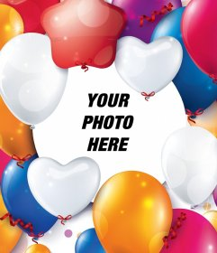 Photo effect with celebration balloons for your photo
