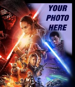 Photo effect of Star Wars VII poster to upload your photo