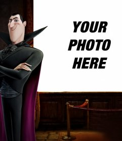 Photo effect of Dracula of Hotel Transylvania to upload your photo