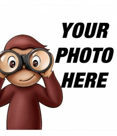 "Children""s photo effect of Curious George to your photo"