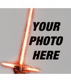 Photo effect of Kylo Ren lightsaber for your photo