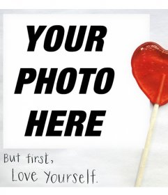 Original photo effect to express the love for yourself