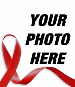 Red ribbon against AIDS to put in your photo online