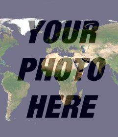 Photo effect of the world to put on your profile picture