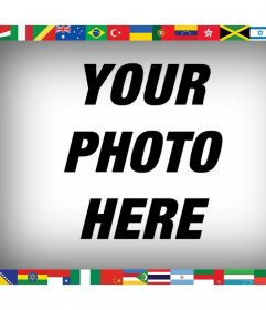 All the flags of the world in your photo