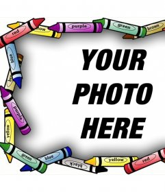 Artistic frame for your photos with colored crayons