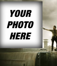 Photo effect to put your photo with the main character of The Walking Dead