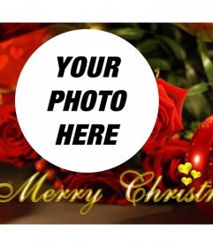 Christmas photo effect with a candle for your photo