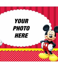 Photo effect with Mickey and Minnie to upload your favorite photo