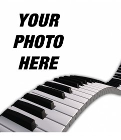 Decorate your photos adding a piano keys over them