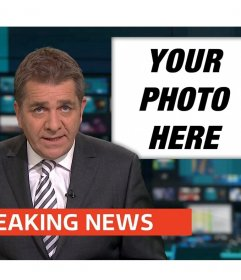 If you want to appear on the TV news then upload your photo