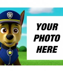 Canine Patrol photo effect to upload a photo