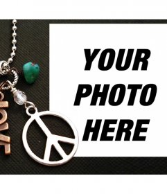 Photo effect with Peace symbol and the word LOVE