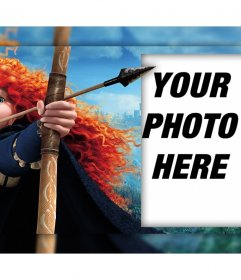 Character of the film Brave with his bow where you can edit with your photo
