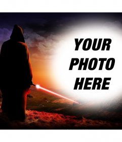 Photo effect of Star Wars to upload a photo