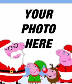 """Photo effect of Christmas with the Peppa Pig""""s family"""