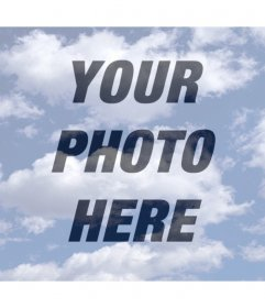 Photo effect of clouds to put over your photo