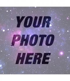 Photo effect of the Universe to put over your photo