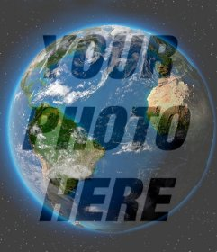 Photo effect of Planet Earth to put on your profile picture