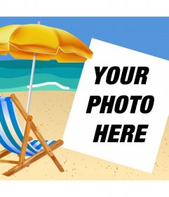 If you like the beach then upload your photo to decorate it