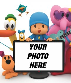 Pocoyo photo effect to upload a photo