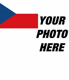Photo effect to put the flag of Czech Republic in the corner of your photo