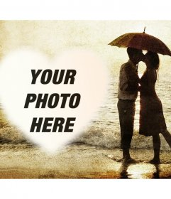 Photo effect of love with a couple to upload your photo
