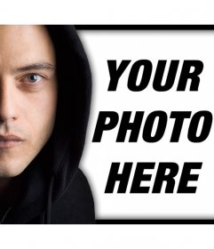If you are a fan of the serie Mr. Robot then upload your photo to this effect