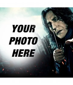 Photo effect of Severus Snape to upload your photo
