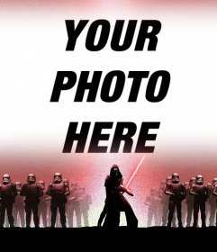 Photo effect of Star Wars 7 for upload your photo