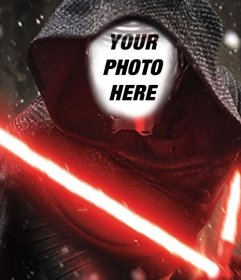 Photomontage of Kylo Ren to put your photo in his face