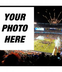 Upload your photo to this effect in the event of Super Bowl