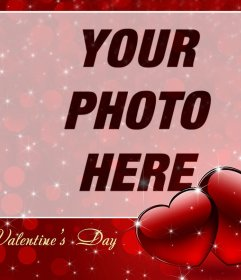 Photo effect to celebrate Valentines Day with a photo