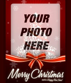Photo effect of Christmas card for uploadyour photo