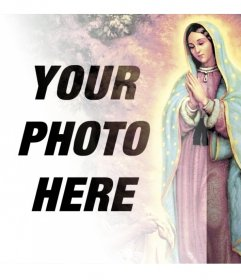 Photomontages with images of the Virgin of Guadalupe