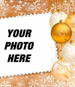 Put your picture in a frame decorated with Christmas decorations
