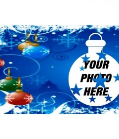 Cover photo for Facebook with Christmas balls