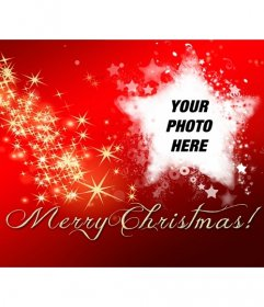 Facebook cover photo with text Merry Christmas