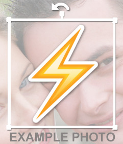 Paste a lightning on your photos as a decorative sticker with this effect