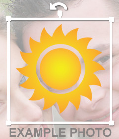 Sticker of a Sun to add on your photos and decorate it online