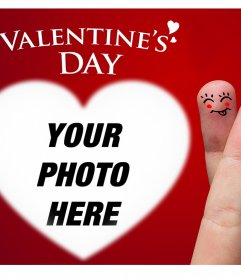 Nice valentine card to upload a photo inside a heart