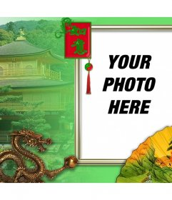 Photo frame of Chinese culture that you can edit with your photo