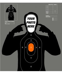 Photomontage of a dummy target practice to add your face