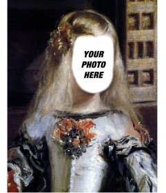 Photomontage of the picture of the Infanta Margarita Velazquez to place your face