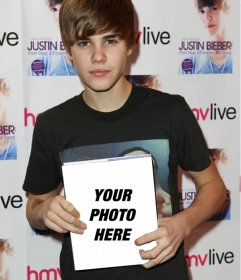 Photomontage to appear on the cover of the book written by Justin Bieber held by Justin with long hair