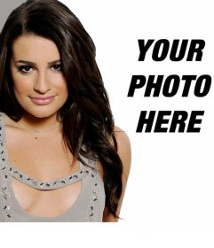Photomontage with Lea Michelle, Glee's actress