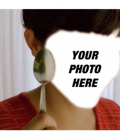 Photomontage with a scene of Amelie to put your photo in the hole