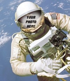 Create a photomontage of an astronaut and put your face in the helmet
